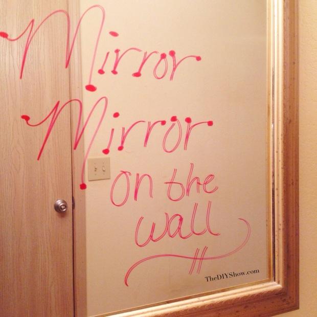 DIY Mirror Writing