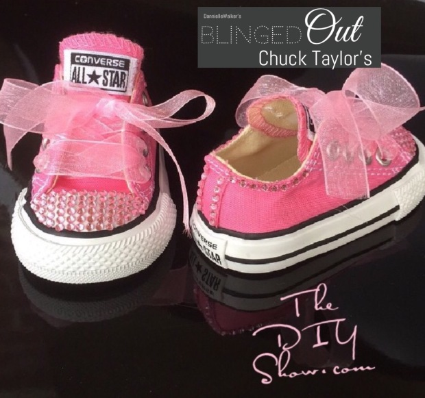 8f84f2cf2a5c She s going to be styling and profiling in her Glam d out   Bedazzled Chuck  Taylor s