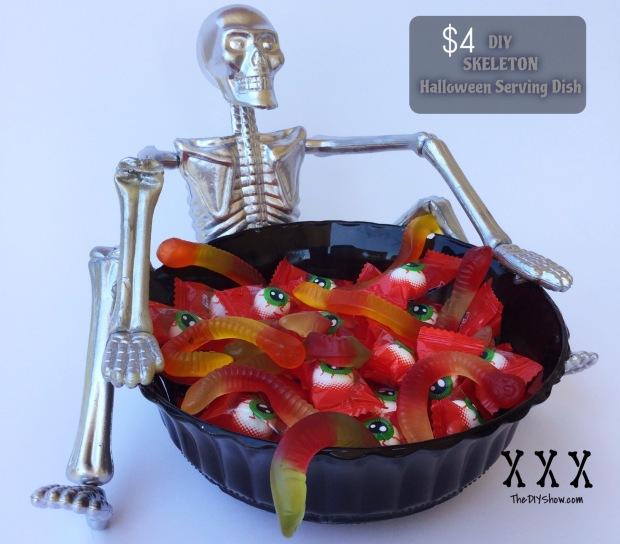 DIY Skeleton Halloween Serving Dish