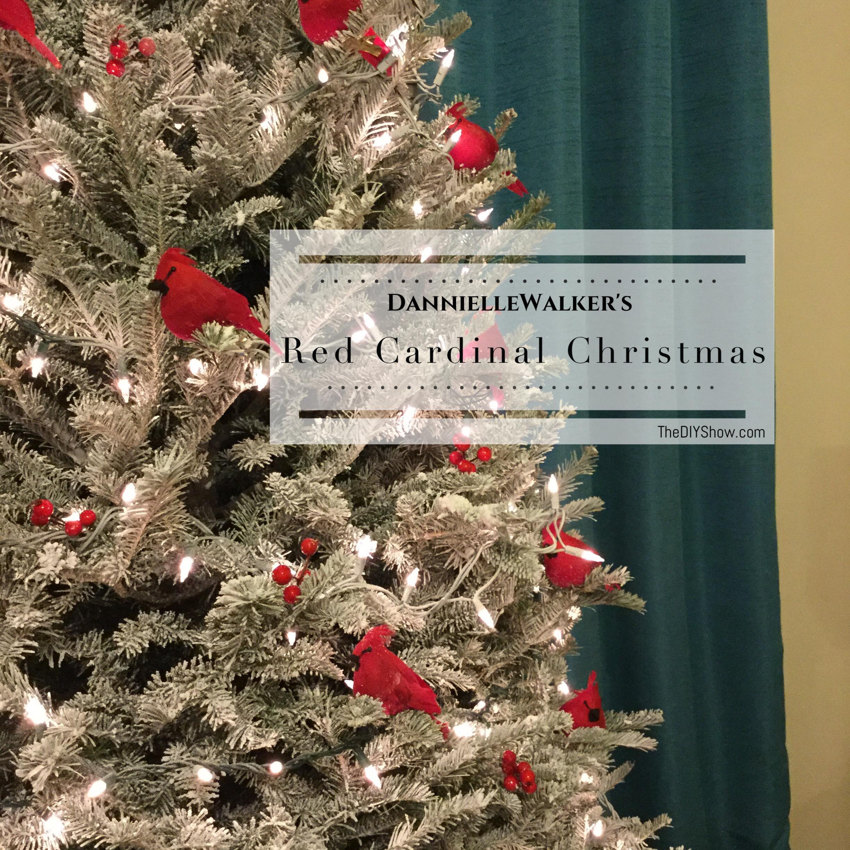 red cardinal christmas tree