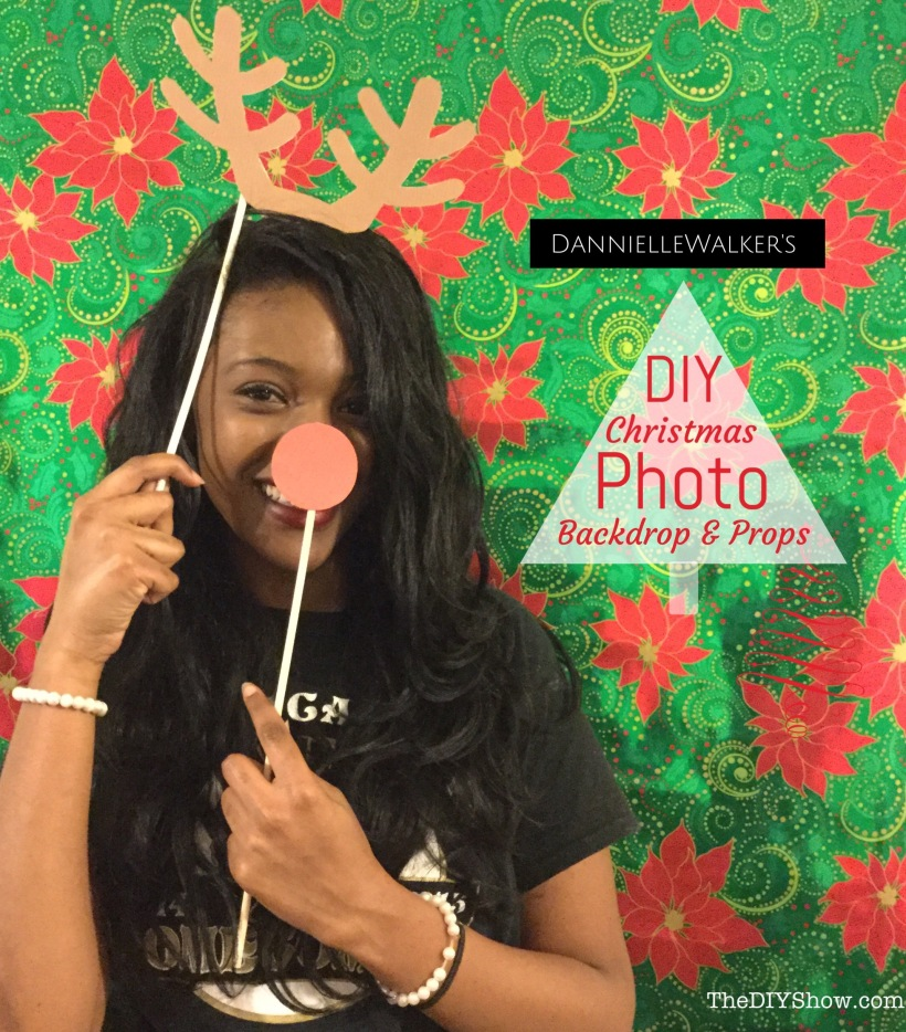 Diy Christmas Photo Backdrop And Props Thediyshow Com